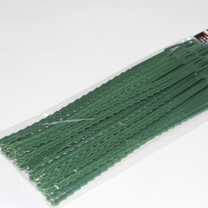 Хомуты для подвязки растений, зел. пластик, 100 шт. в уп.