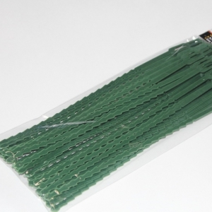 Хомуты для подвязки растений, зел. пластик, 30 шт. в уп.