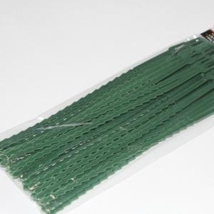 Хомуты для подвязки растений, зел. пластик, 50 шт. в уп.