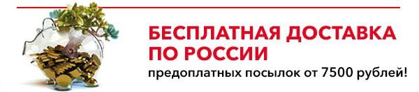 Условия бесплатной доставки предоплатных посылок по России