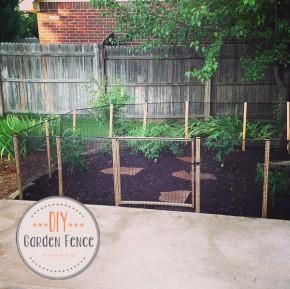 Diy // how to make a garden fence